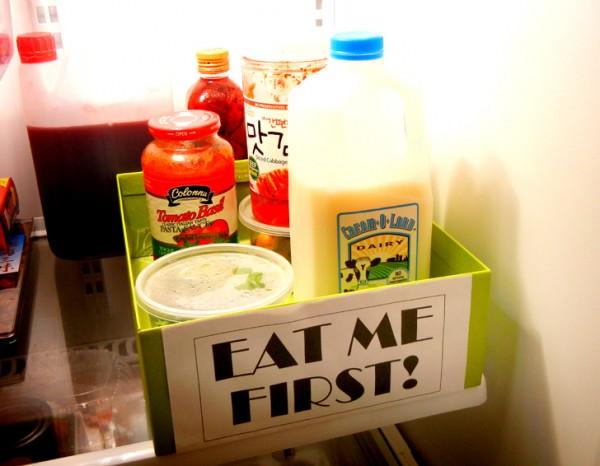Evitando o desperdicio de comida.