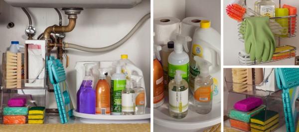 Organizando Produtos de Limpeza