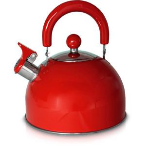 Chaleira em Inox Vermelha com Apito - Mimo Style