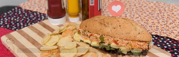 Sanduíche de Frango Louco