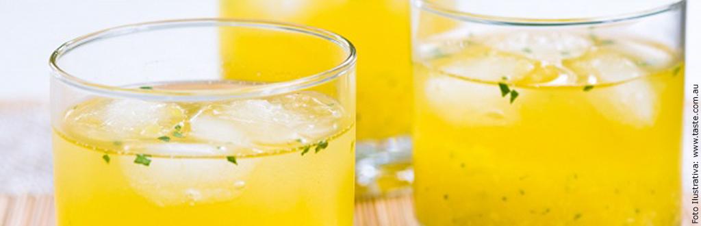 Suco de Abacaxi, Melão e Hortelã