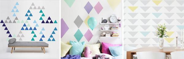 decoracao_parede_triangulos