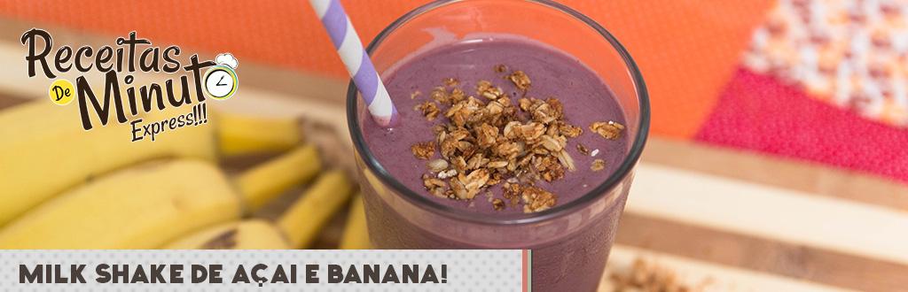 Milk Shake de Açaí e Banana
