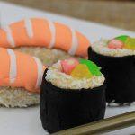 Docinhos em Formato de Sushi