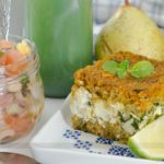 MARMITA COMPLETA: Kibe de Forno Recheado + Salada de Feijão Fradinho