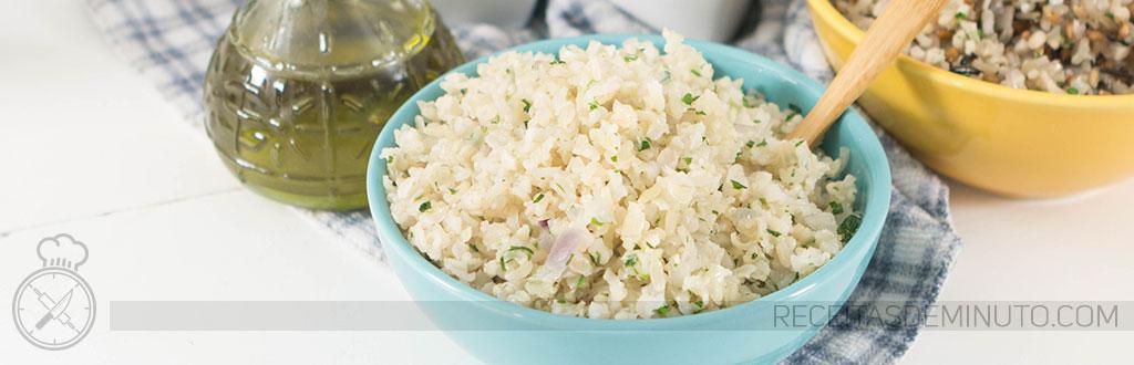 Como fazer arroz integral em 10 minutos