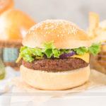 Pão de Hambúrguer Tipo Brioche + Hambúrguer Vegetariano
