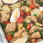 Atum Assado com Batatas