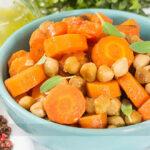 Salada Morna de Cenoura
