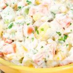 Salada de Maionese com Mandioquinha