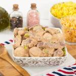 Estrogonofe de Carne de Forno e Arroz de Forno