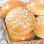 Pão de Hambúrguer – Pão Tipo Brioche