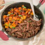 Almoço em 15 minutos! Isca de Carne com Abóbora